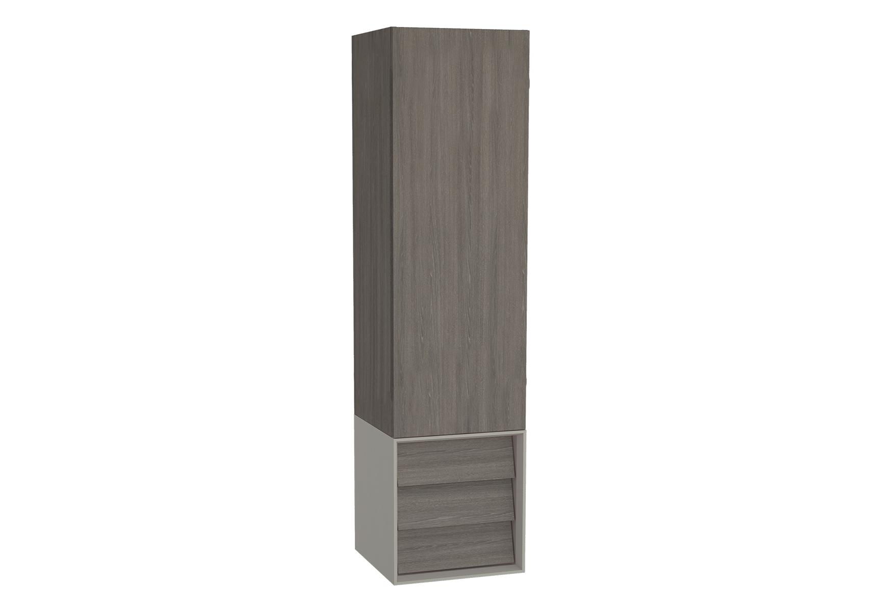 Frame armoire haute, 32 cm, chêne moka, mat taupe, droite