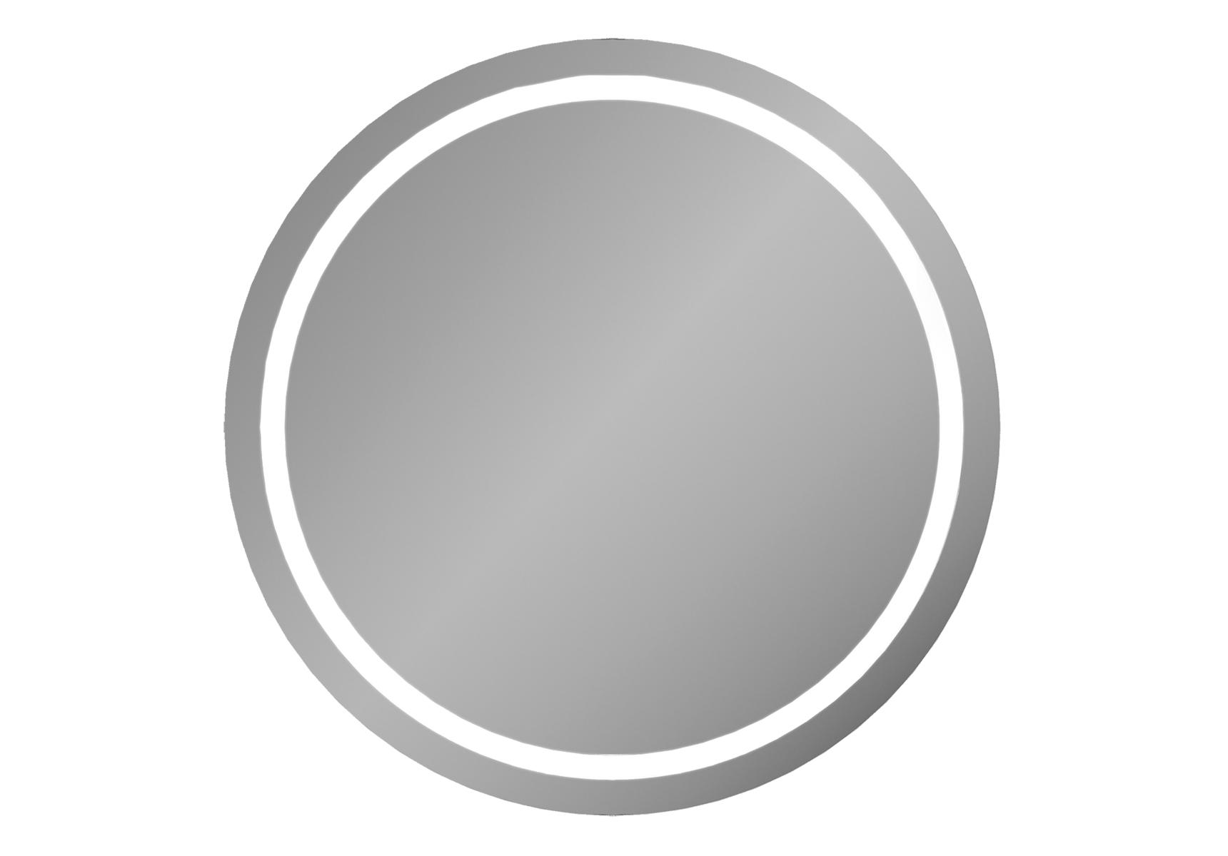Frame mirroir rond LED, 80 cm, avec encadrement gris mat