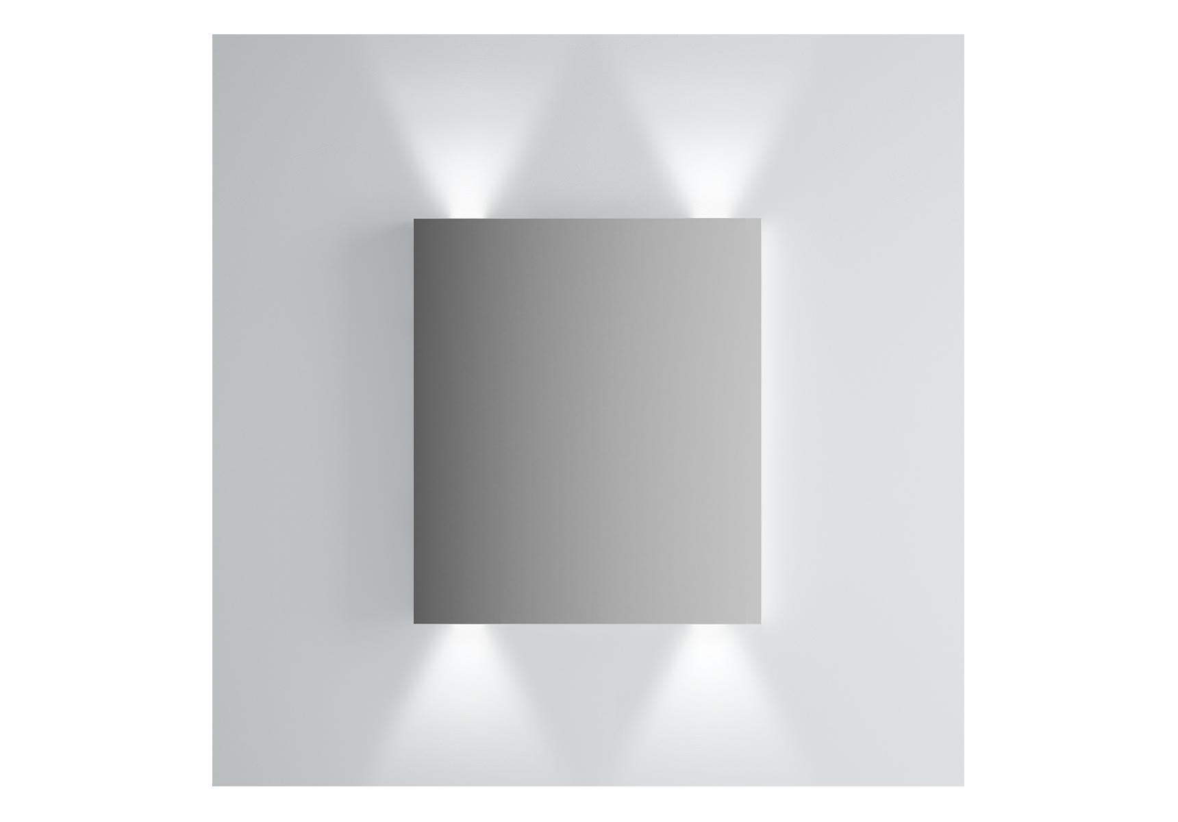 Integra miroir avec éclairage haut et bas, 60 cm