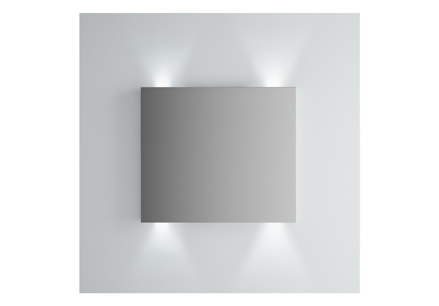 Integra miroir avec éclairage haut et bas, 80 cm