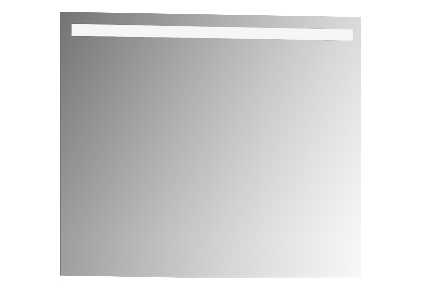 D-Light miroir avec éclairage à LED, 80 cm, caisson aspect chromé