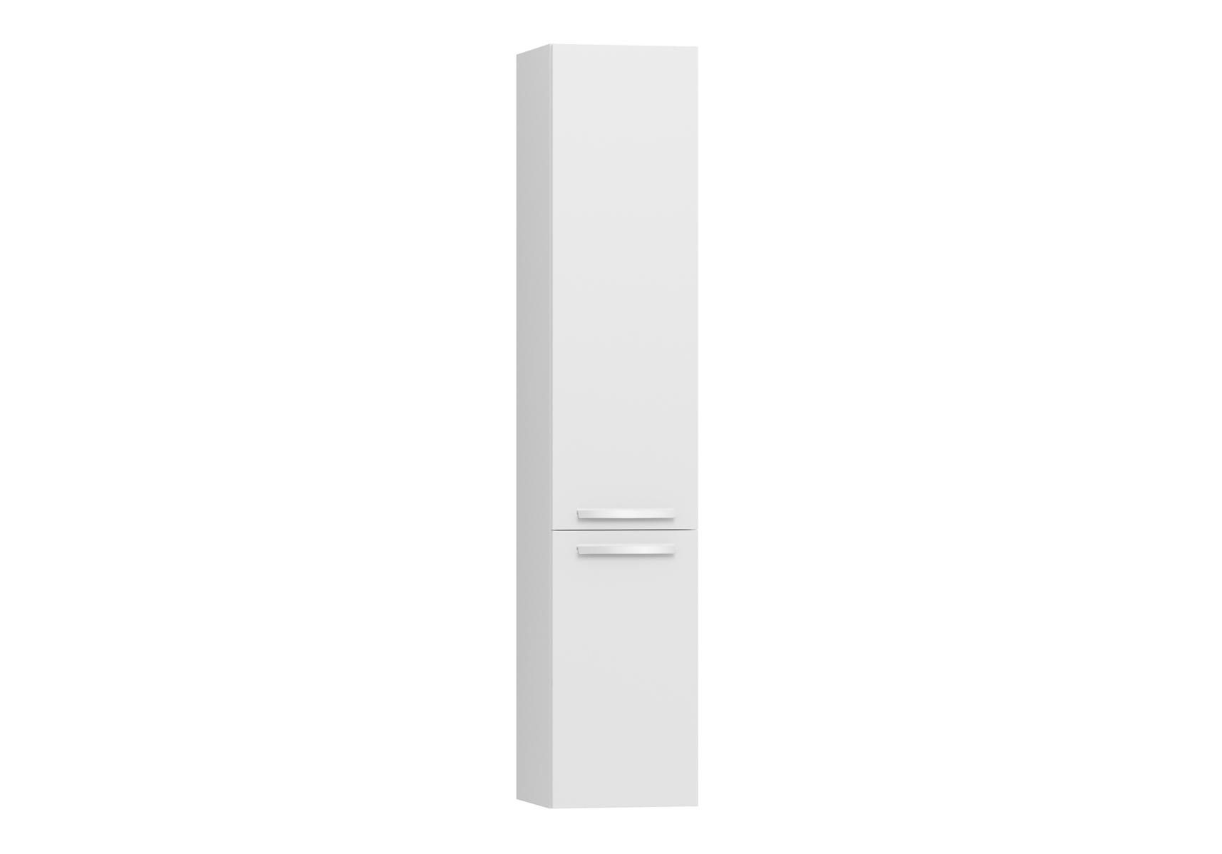 Integra armoire haute sans corbeille à linge, porte à gauche, 35 cm, blanc haute brillance