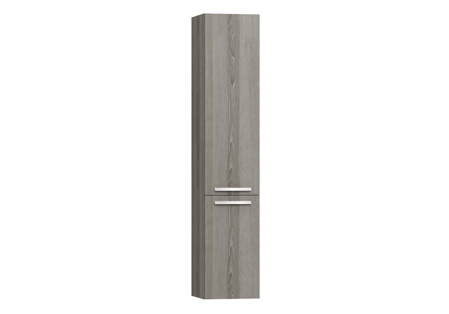 Integra armoire haute sans corbeille à linge, porte à gauche, 35 cm, chêne gris naturel