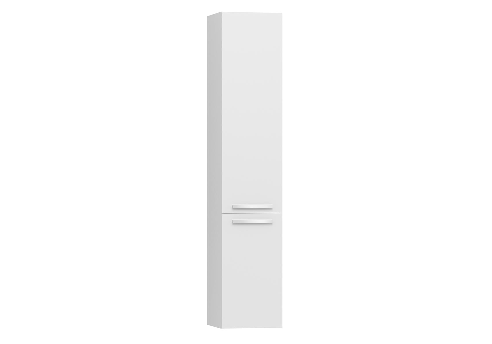Integra armoire haute sans corbeille à linge, porte à droite, 35 cm, blanc haute brillance