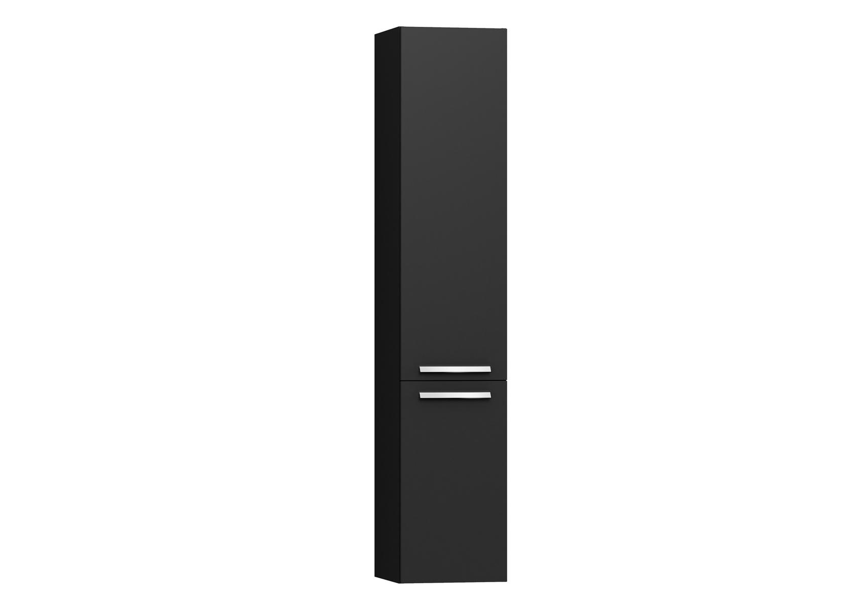Integra armoire haute sans corbeille à linge, porte à droite, 35 cm, anthraciteacite haute brillance