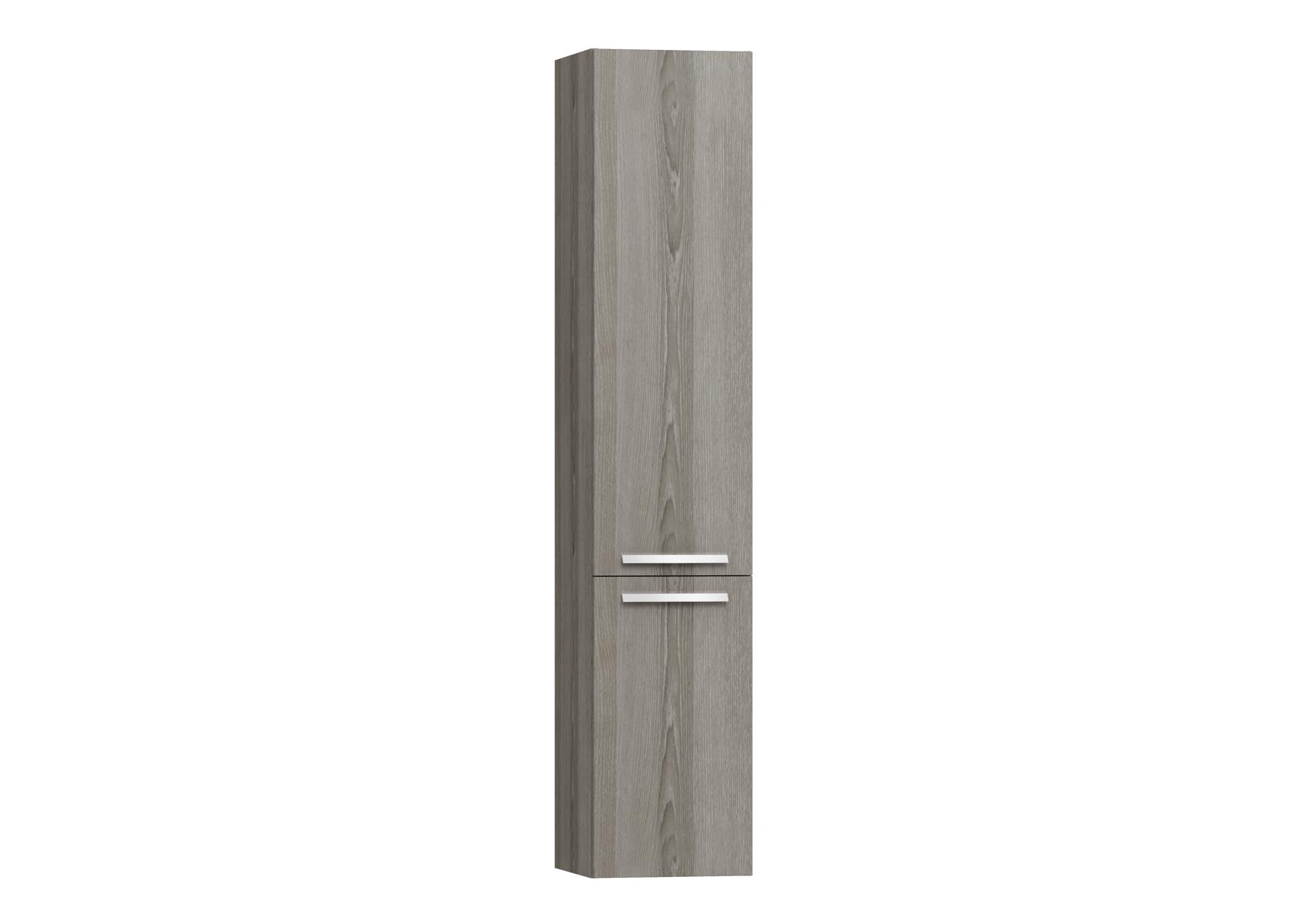 Integra armoire haute sans corbeille à linge, porte à droite, 35 cm, chêne gris naturel