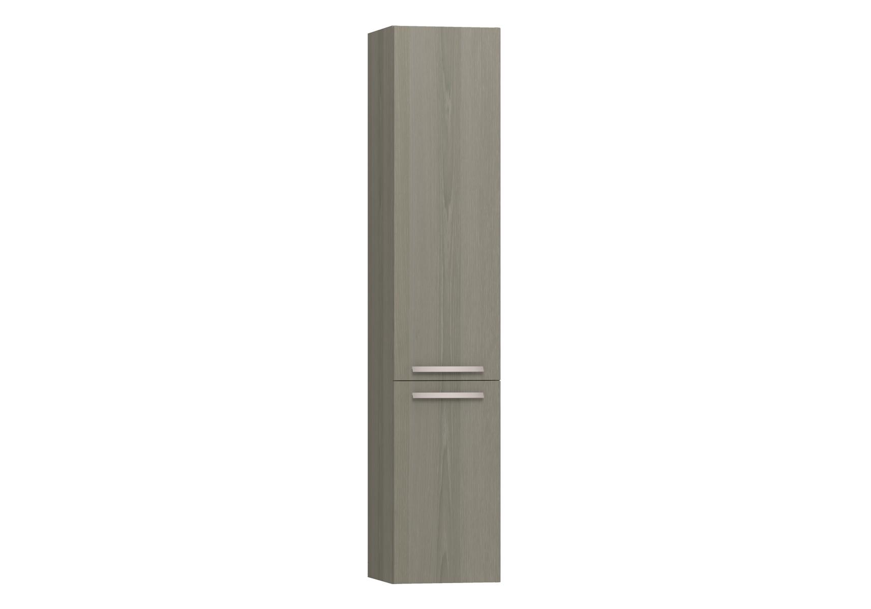 Integra armoire haute avec corbeille à linge, porte à gauche, 35 cm, chêne gris naturel