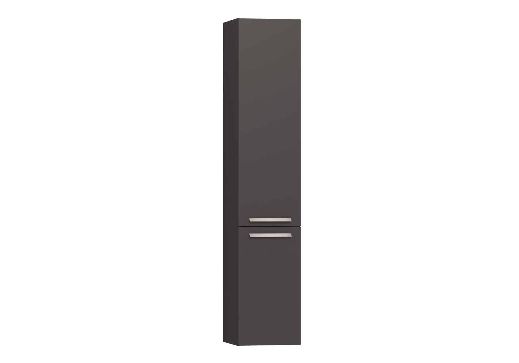 Integra armoire haute avec corbeille à linge, porte à droite, 35 cm, anthraciteacite haute brillance