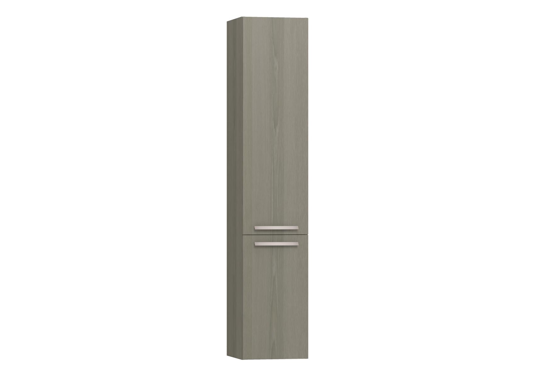 Integra armoire haute avec corbeille à linge, porte à droite, 35 cm, chêne gris naturel