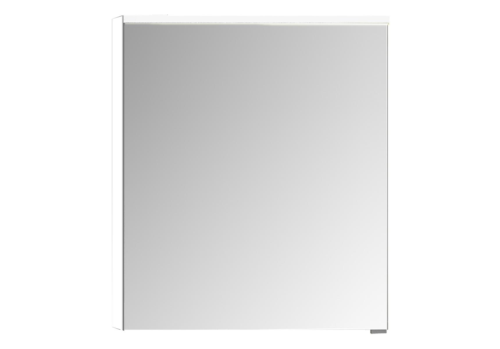 Sento Premium LED-Spiegelschrank, 60 cm, Türanschlag links, Weiß Matt