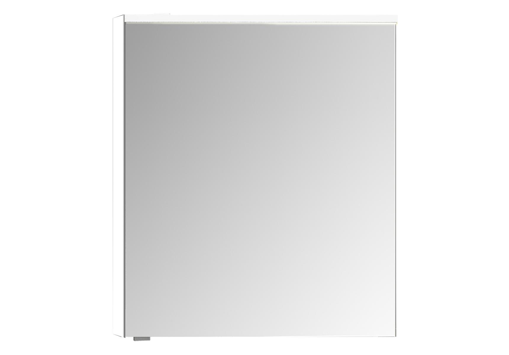 Sento Premium LED-Spiegelschrank, 60 cm, Türanschlag rechts, Weiß Matt