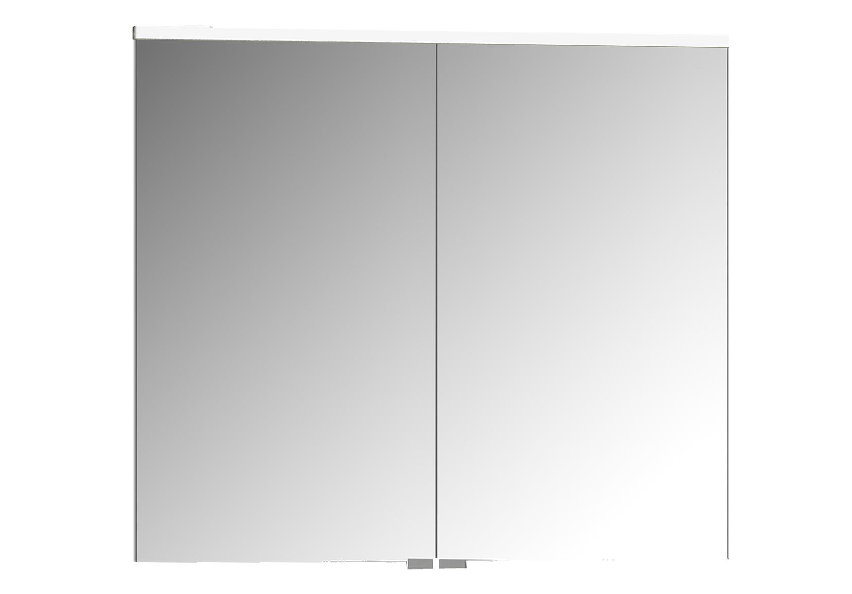 Sento Premium LED-Spiegelschrank, 80 cm, Weiß Matt