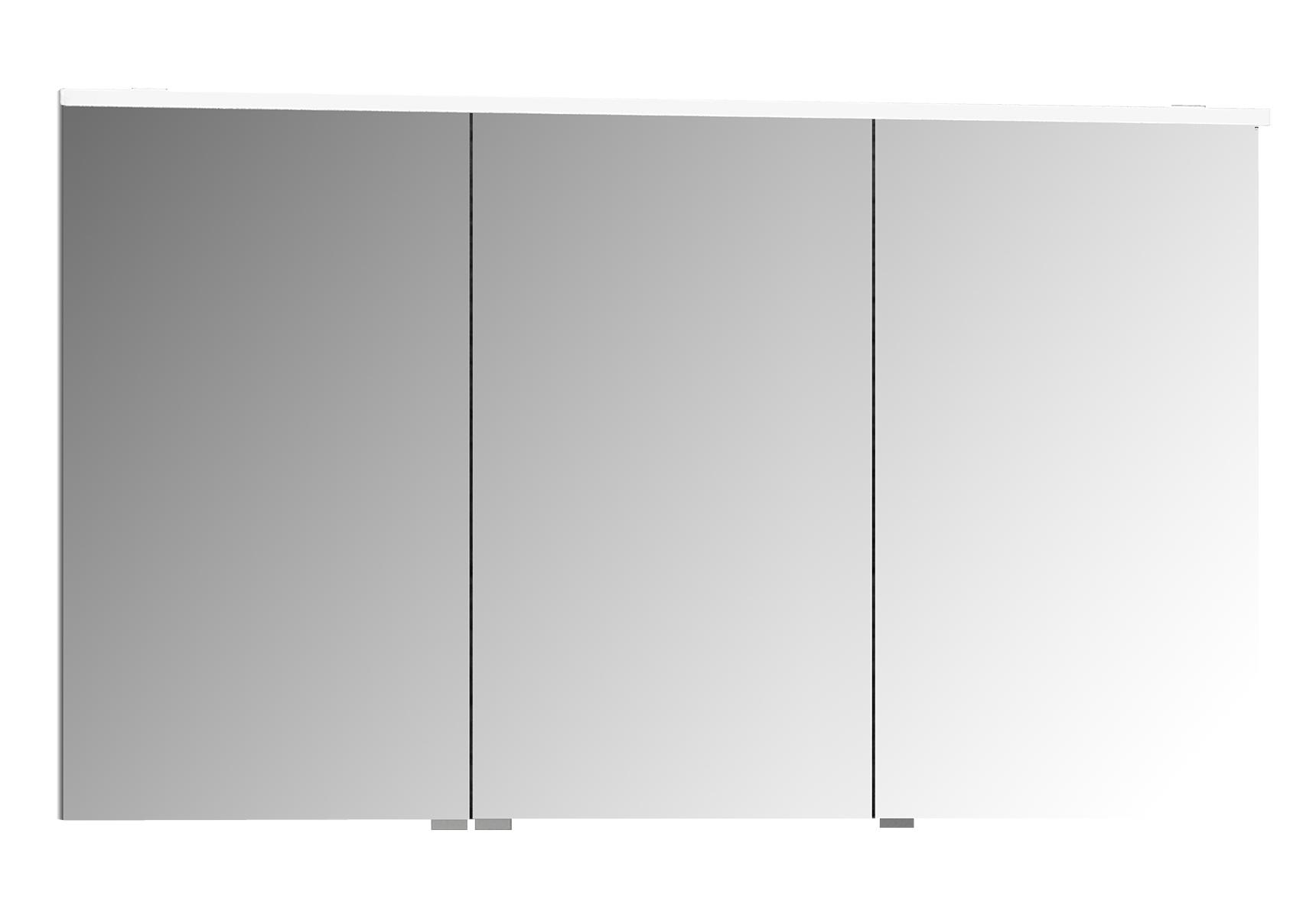 Sento Premium LED-Spiegelschrank, 120 cm, Weiß Matt