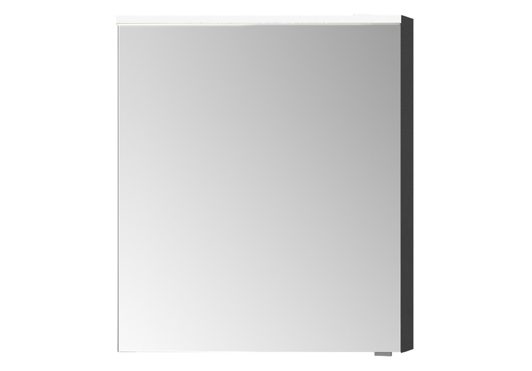 Sento Premium LED-Spiegelschrank, 60 cm, Türanschlag links, Anthrazit Matt