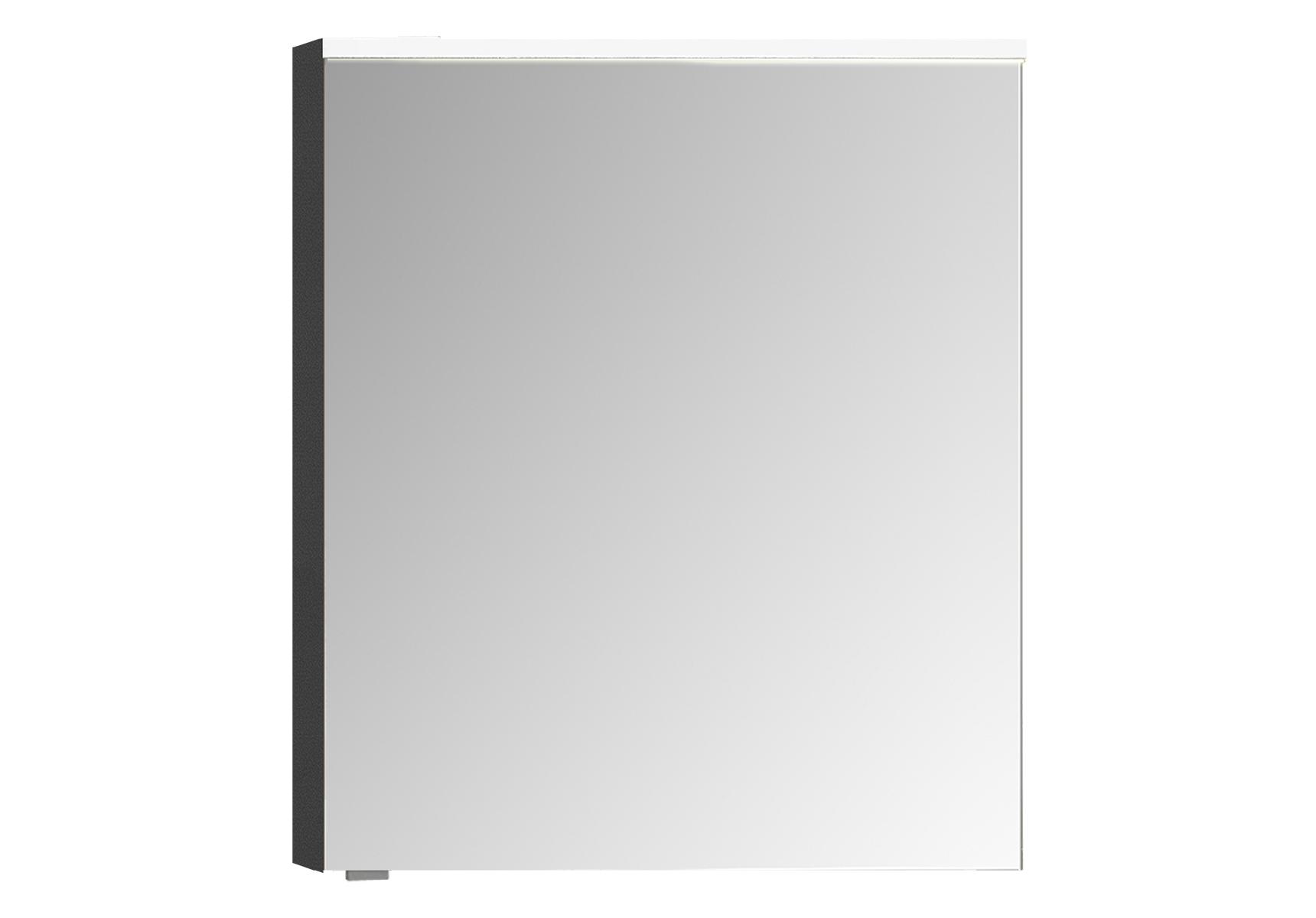 Sento Premium LED-Spiegelschrank, 60 cm, Türanschlag rechts, Anthrazit Matt
