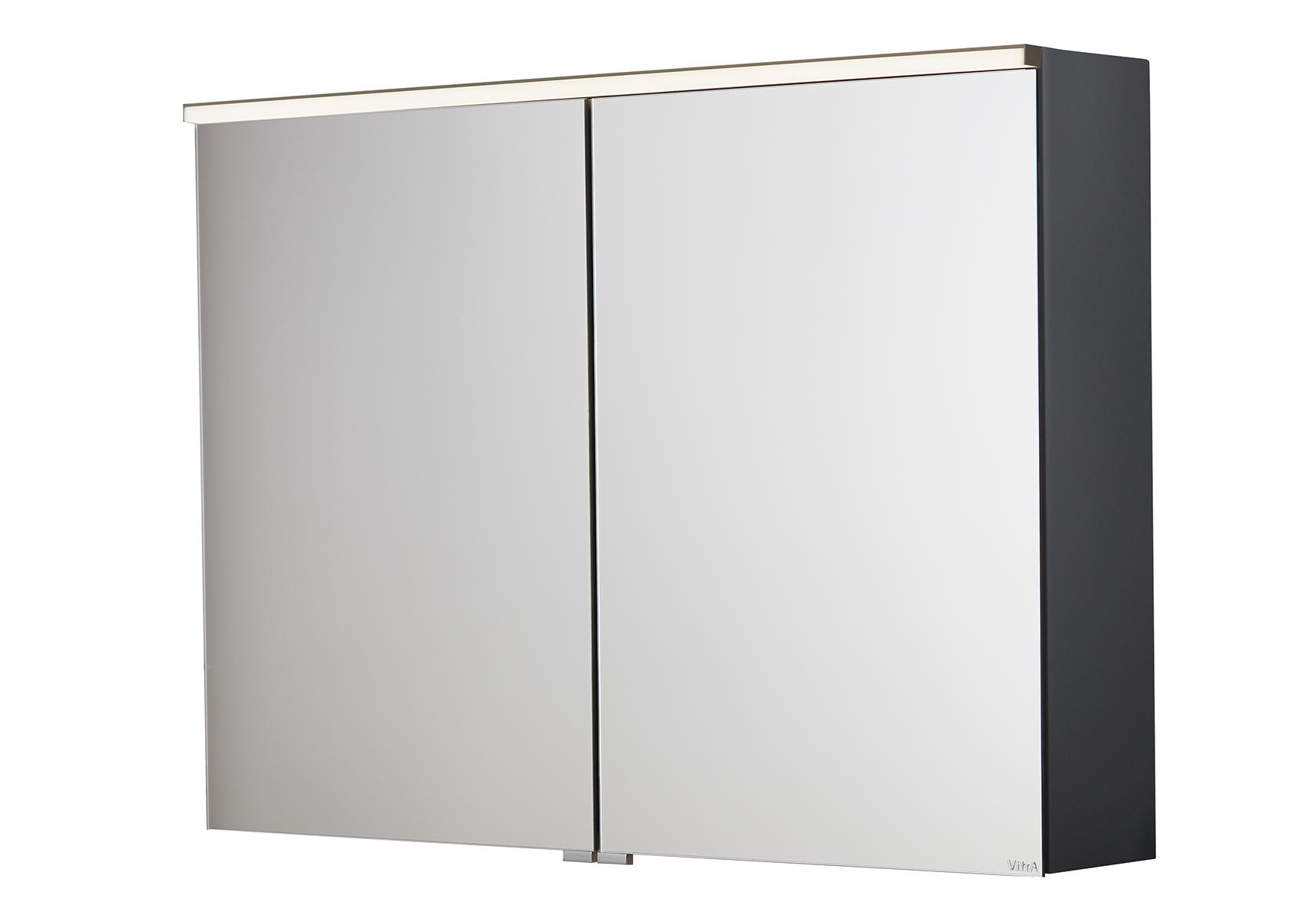 Sento Premium LED-Spiegelschrank, 80 cm, Anthrazit Matt