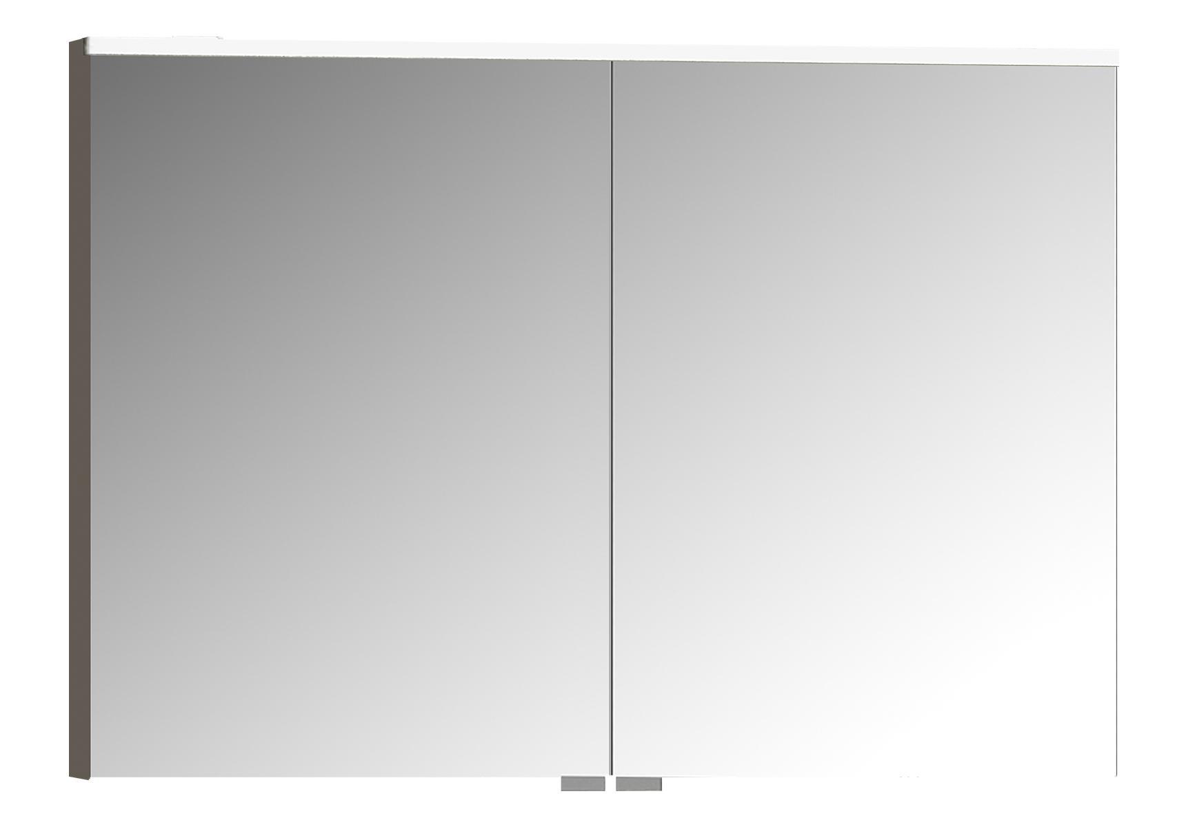 Sento Premium LED-Spiegelschrank, 100 cm, Anthrazit Matt