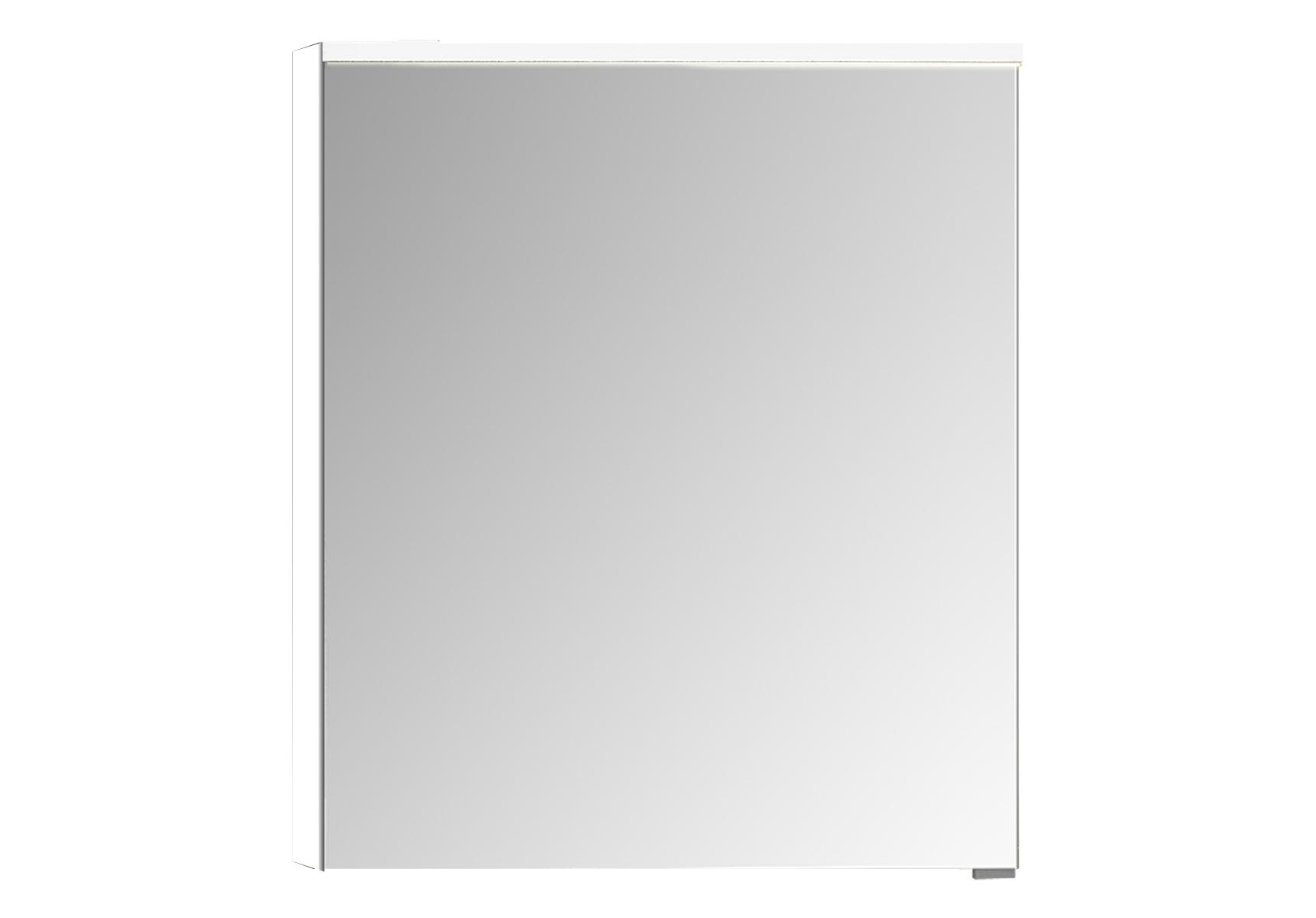 Integra Premium armoire de toilette, 60 cm, éclairage LED horizontale,blanc haute brilliance, gauche