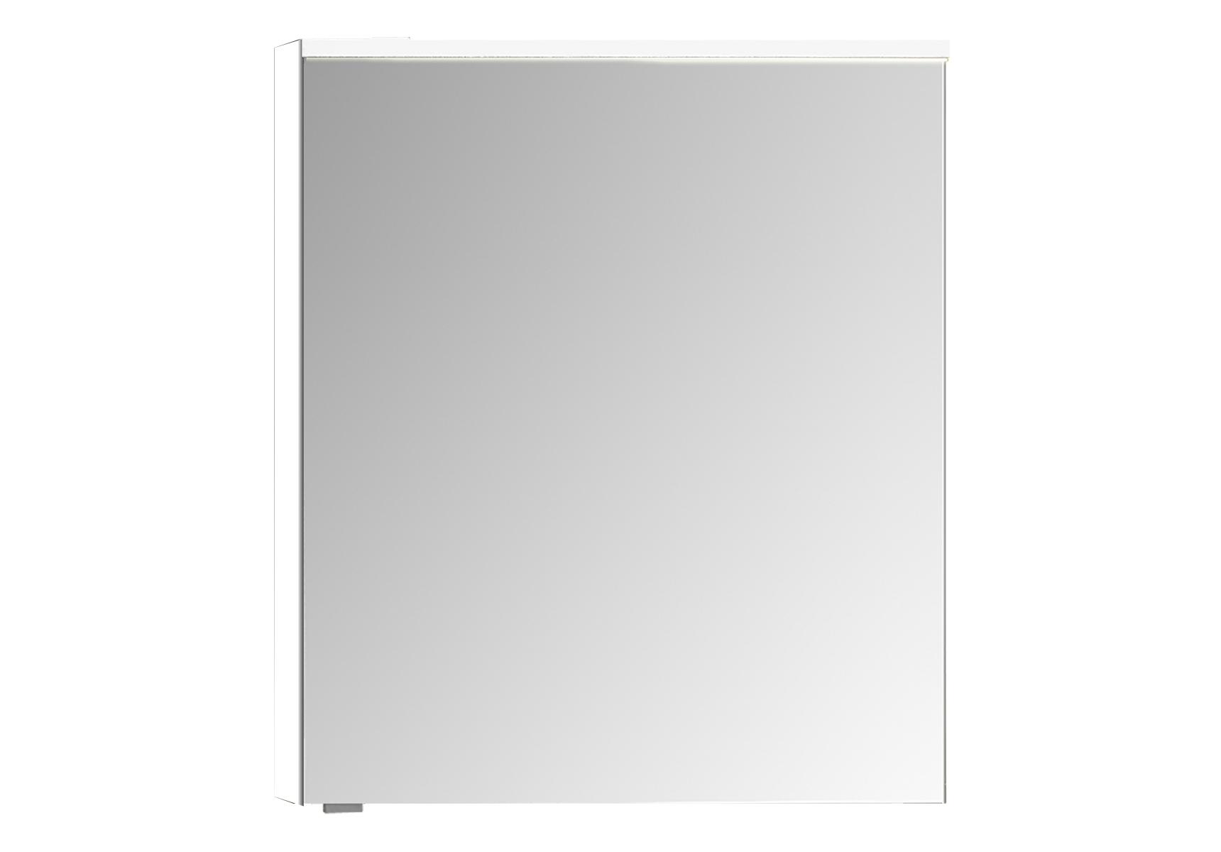 Integra Premium armoire de toilette, 60 cm, éclairage LED horizontale,blanc haute brilliance, droite