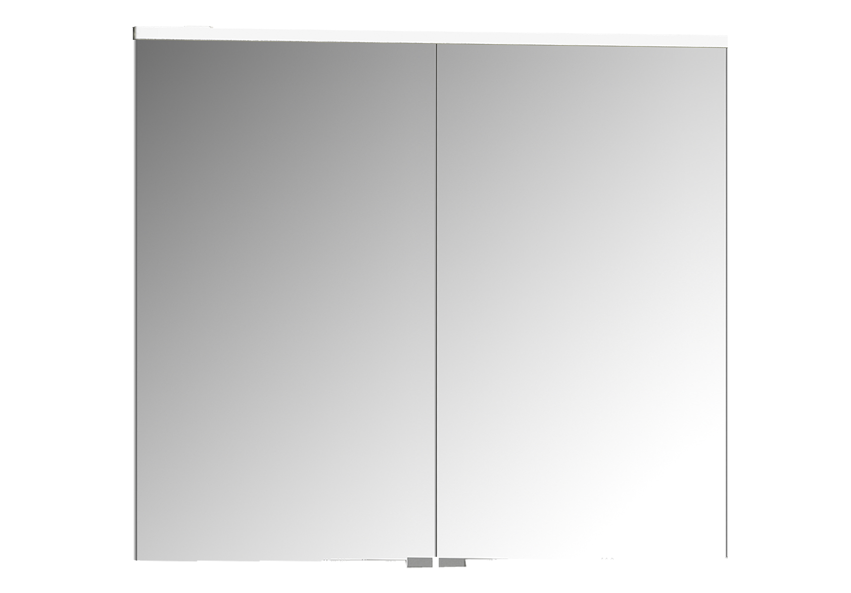Integra Premium armoire de toilette, 80 cm, éclairage LED horizontale,blanc haute brilliance, 2 portes