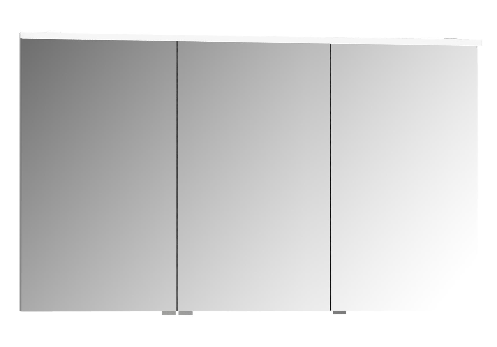 Integra Premium armoire de toilette, 120 cm, éclairage LED horizontale,blanc haute brilliance, 3portes