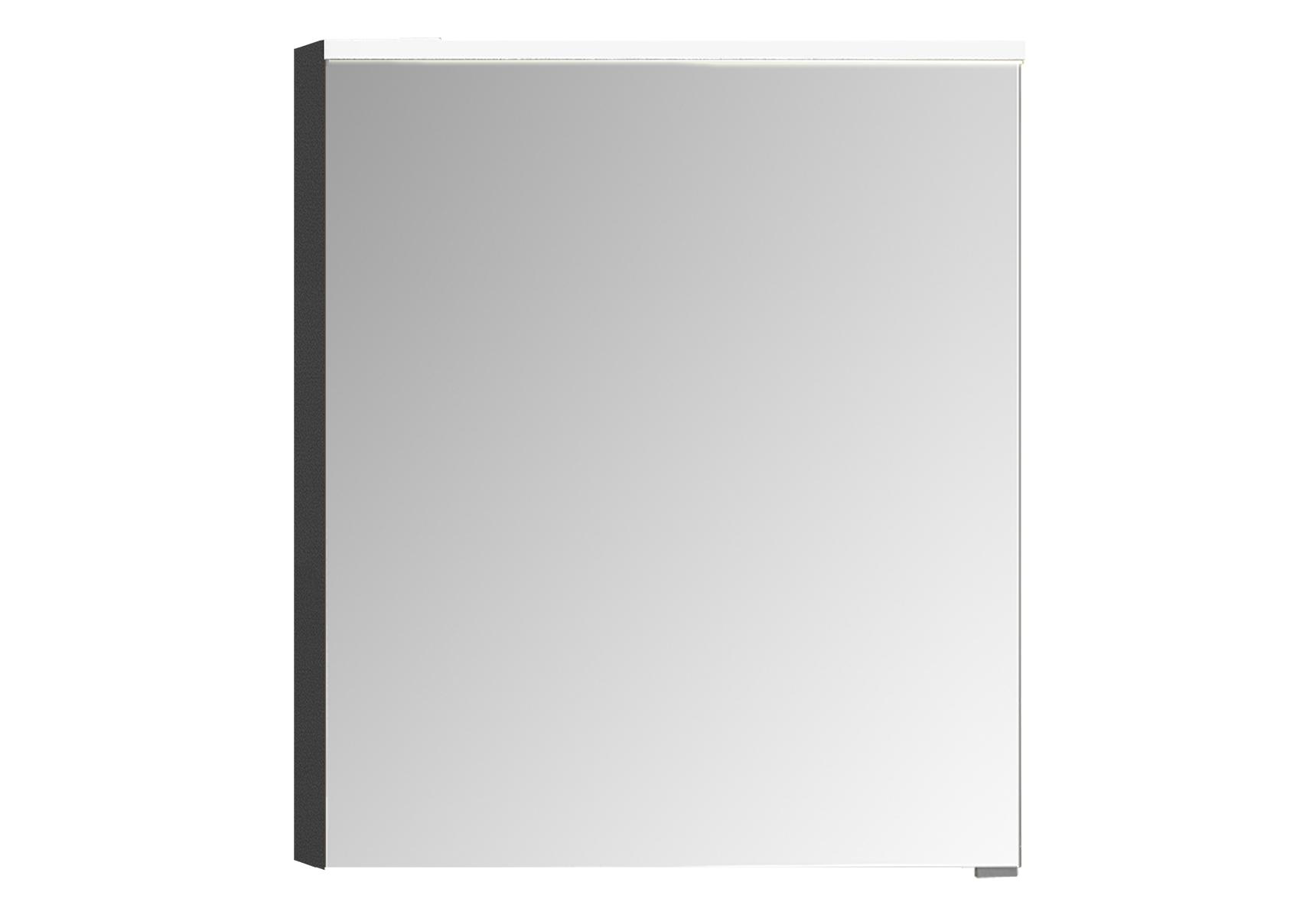 Integra Premium armoire de toilette, 60 cm, éclairage LED horizontale,anthraciteacite haute brilliance, gauche