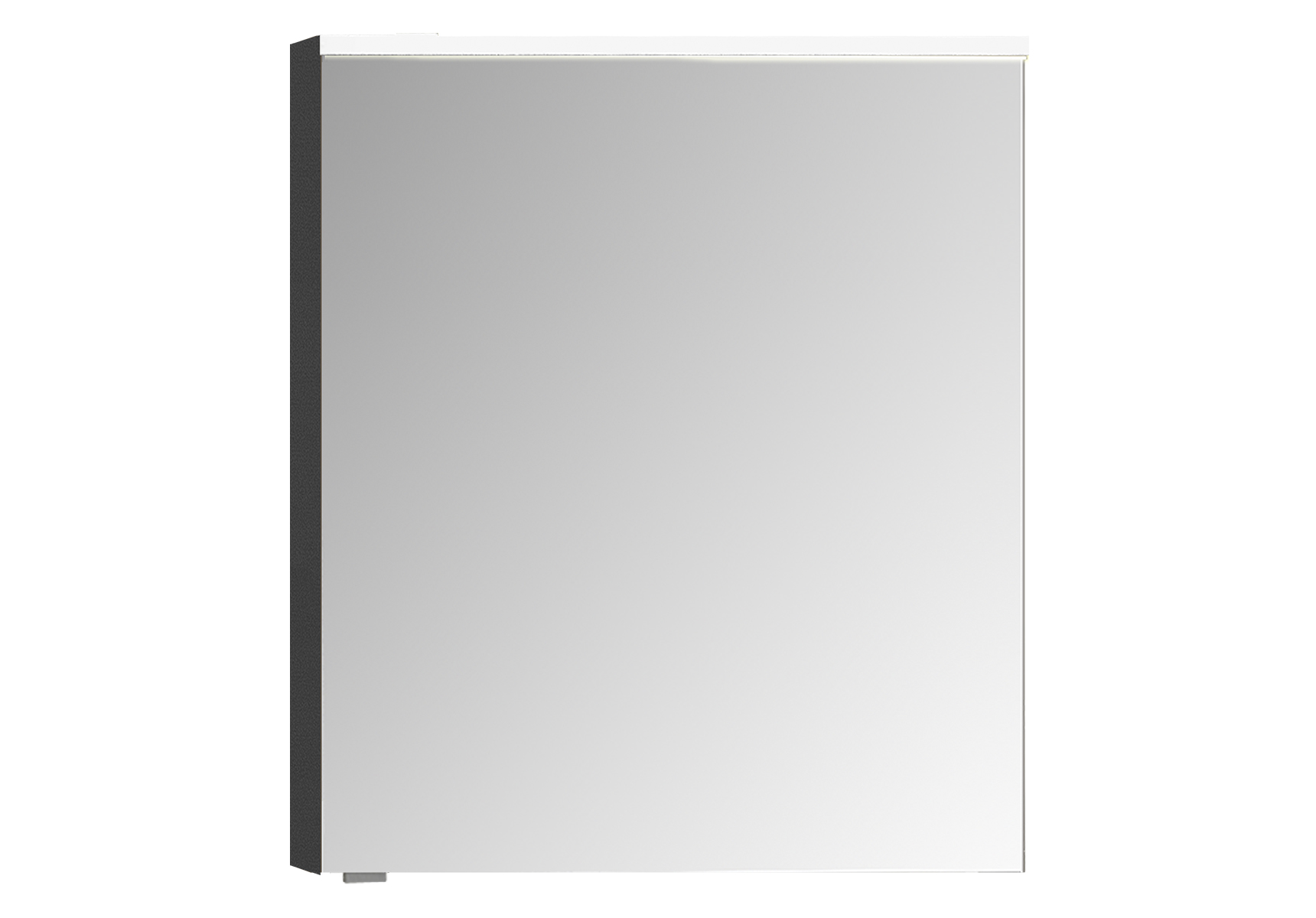 Integra Premium armoire de toilette, 60 cm, éclairage LED horizontale, anthraciteacite haute brilliance, droite