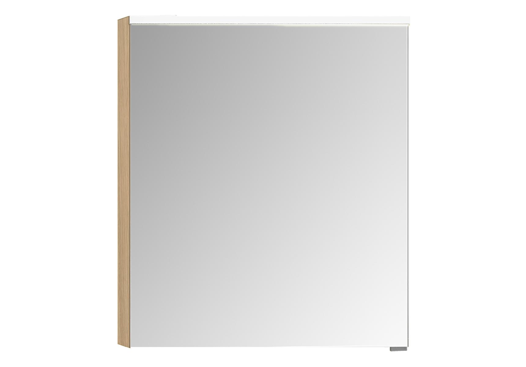 Sento Premium armoire de toilette, 60 cm, éclairage LED horizontale, chêne naturel, gauche