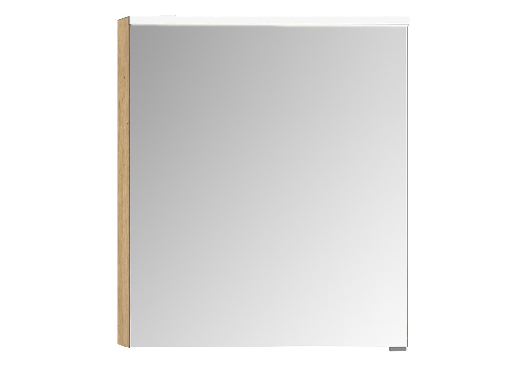 Integra Premium armoire de toilette, 60 cm, éclairage LED horizontale, chêne, gauche