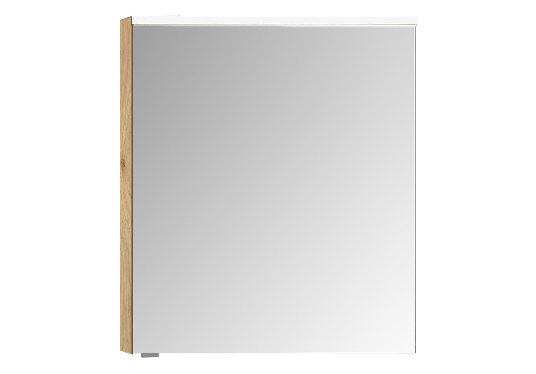 Integra Premium armoire de toilette, 60 cm, éclairage LED horizontale, chêne, droite