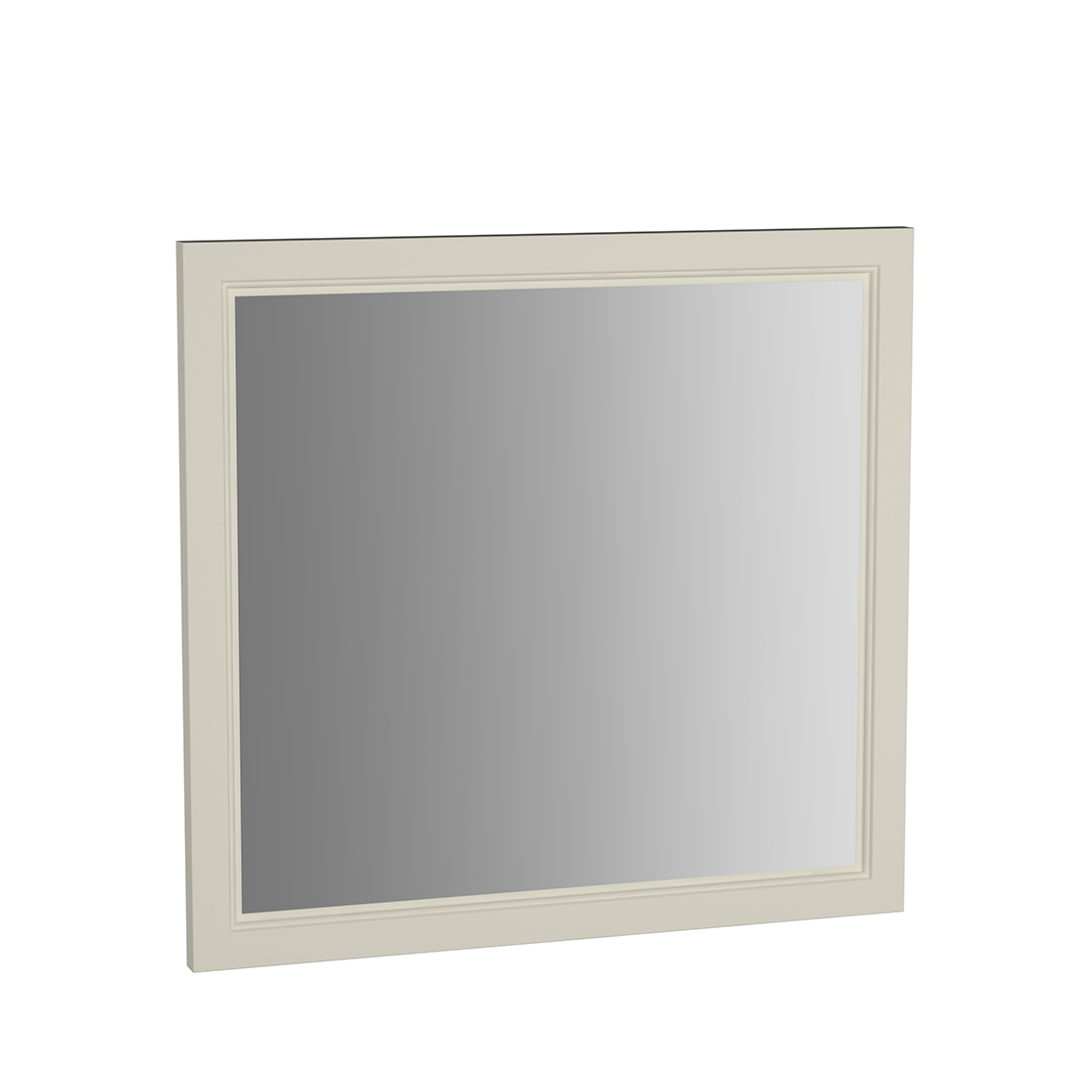 Valarte miroir, 80 cm, ivoire mat