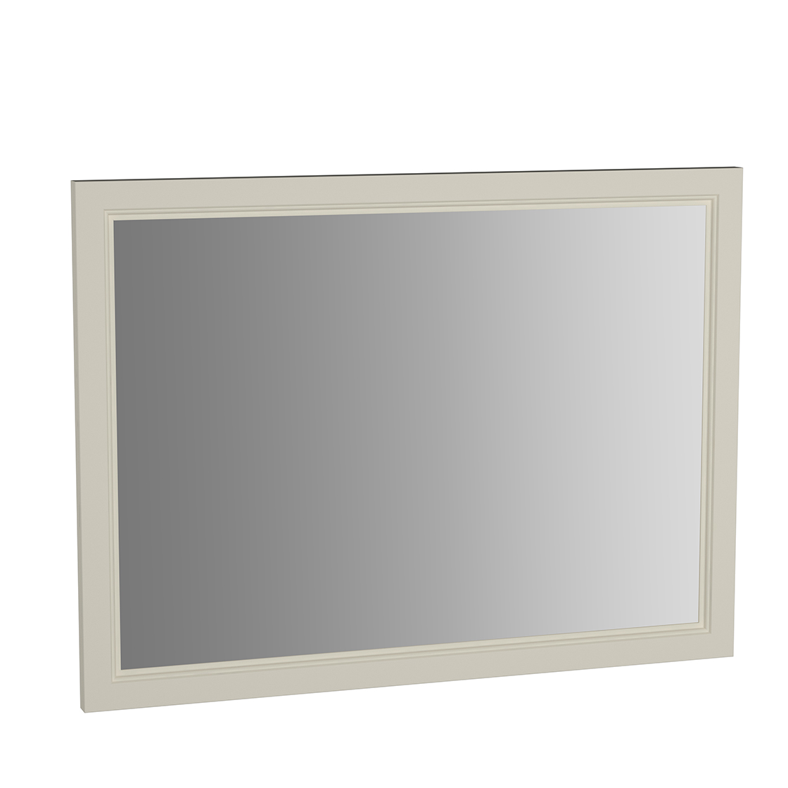 Valarte miroir, 100 cm, ivoire mat