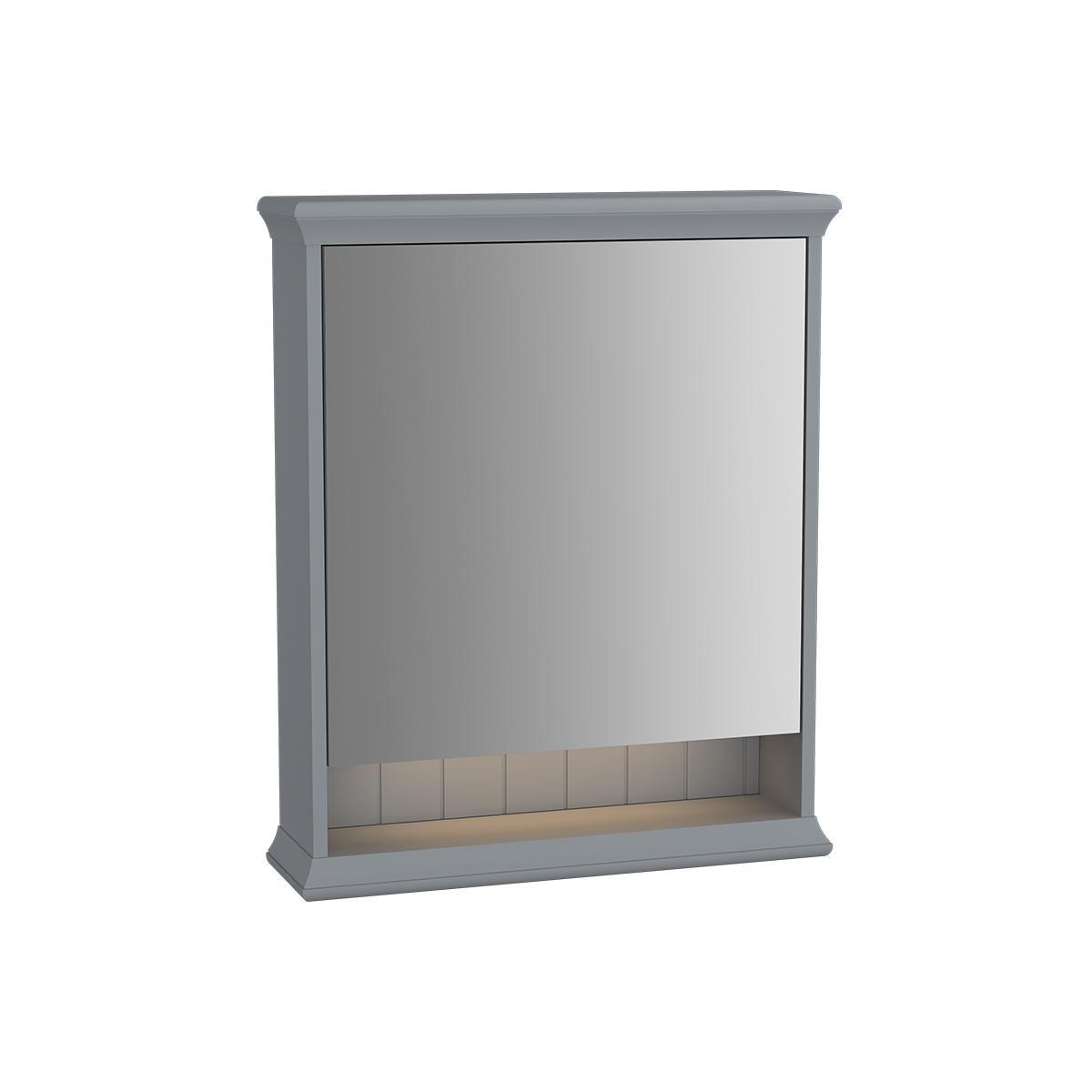 Valarte armoire de toilette, 65 cm, gris mat, porte à gauche