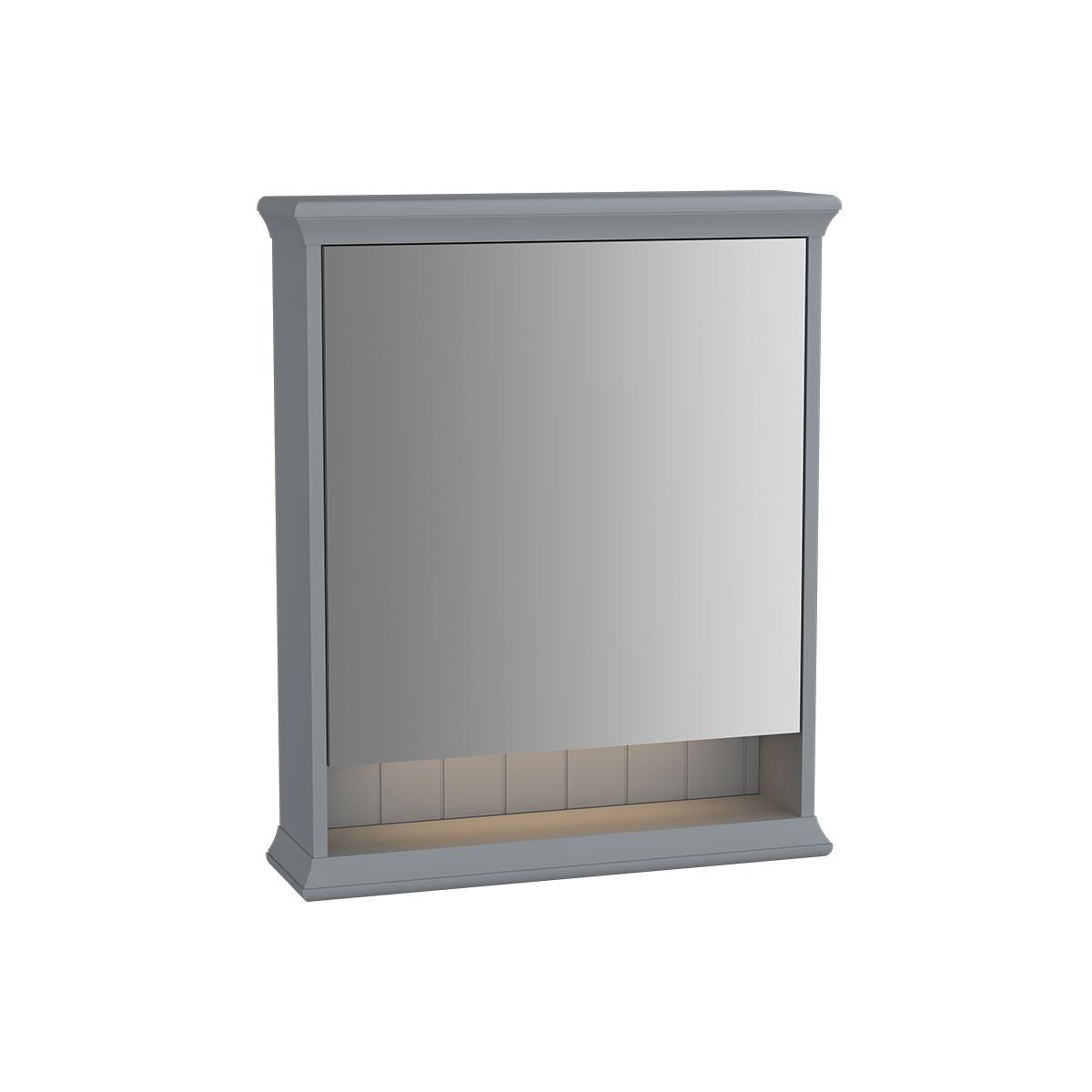 Valarte armoire de toilette, 65 cm, gris mat, porte à droite