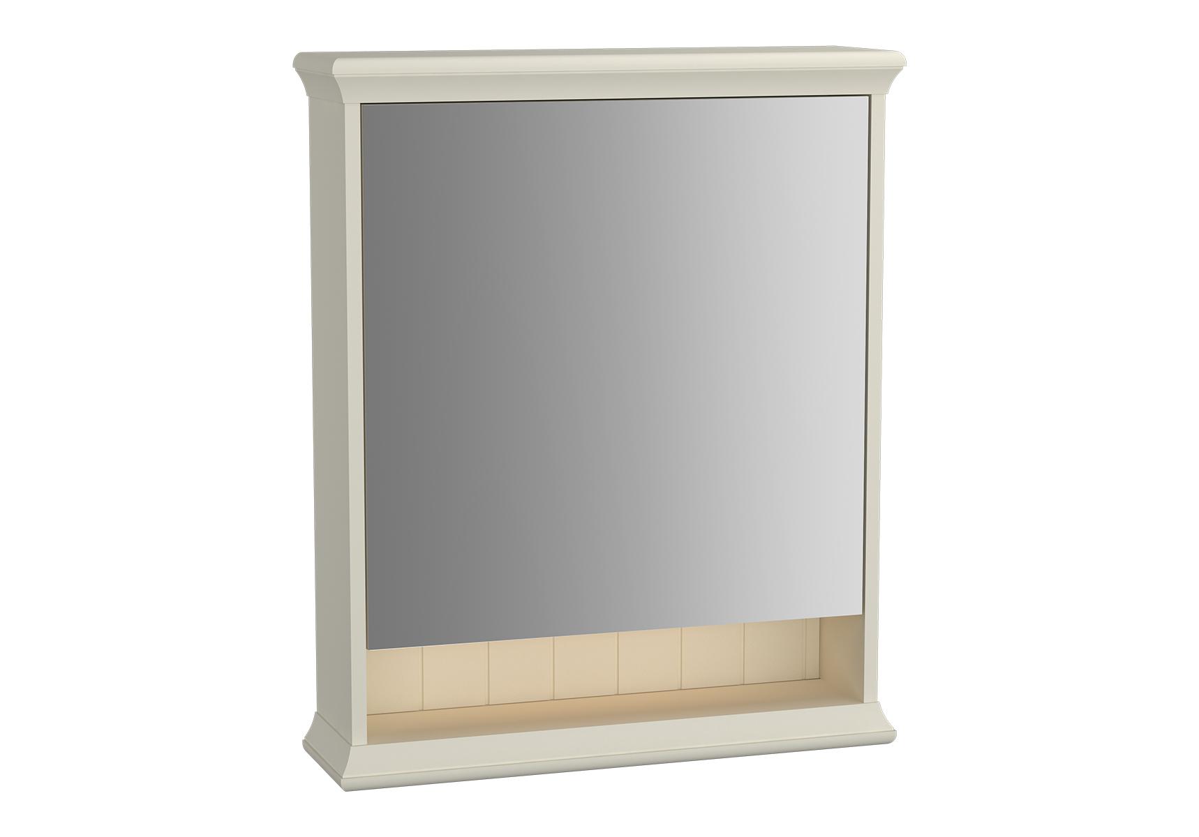 Valarte armoire de toilette, 65 cm, ivoire mat, porte à droite