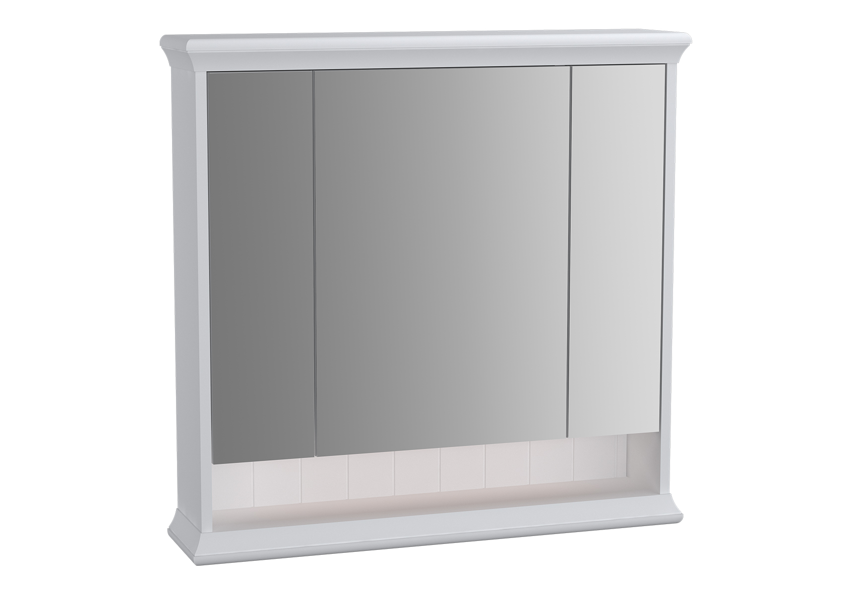 Valarte armoire de toilette, 80 cm, blanc mat
