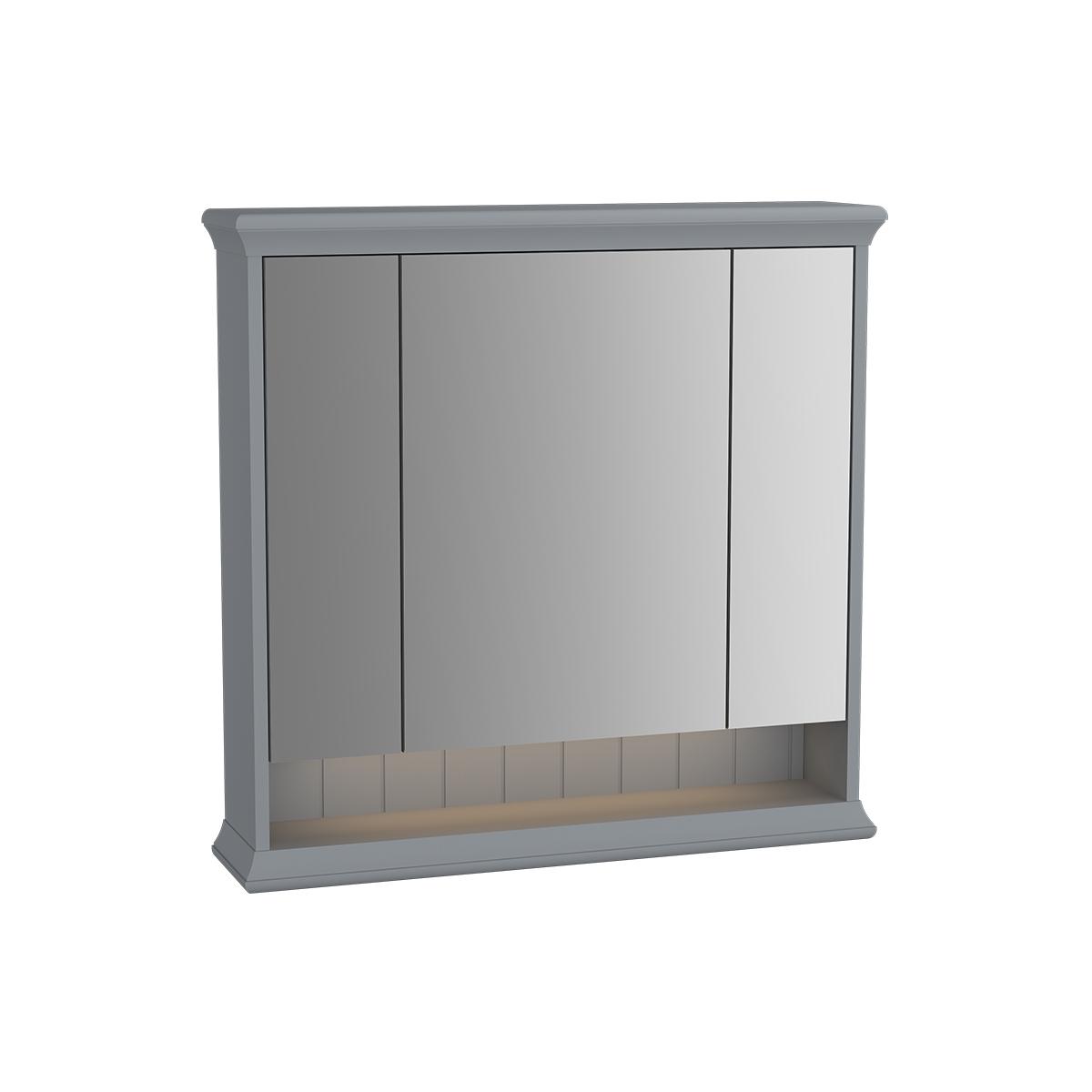 Valarte armoire de toilette, 80 cm, gris mat