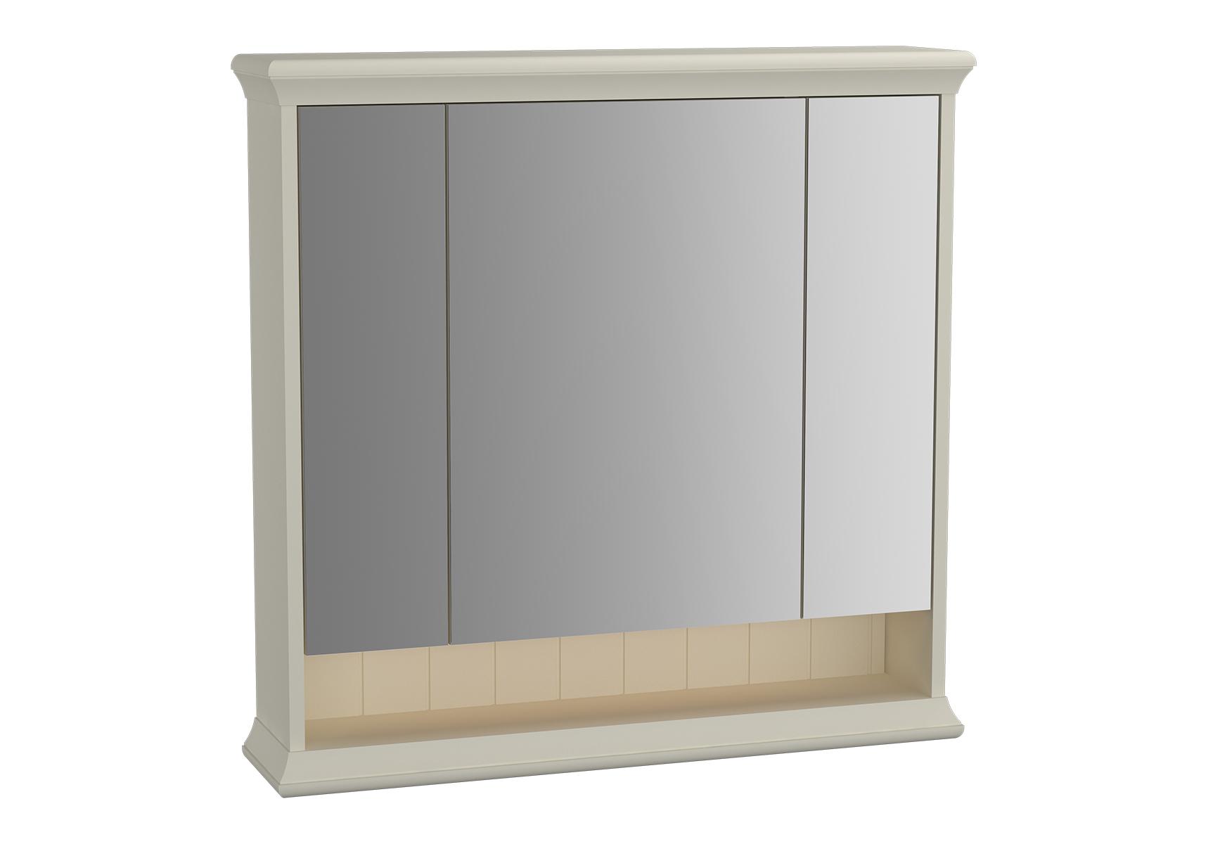 Valarte armoire de toilette, 80 cm, ivoire mat