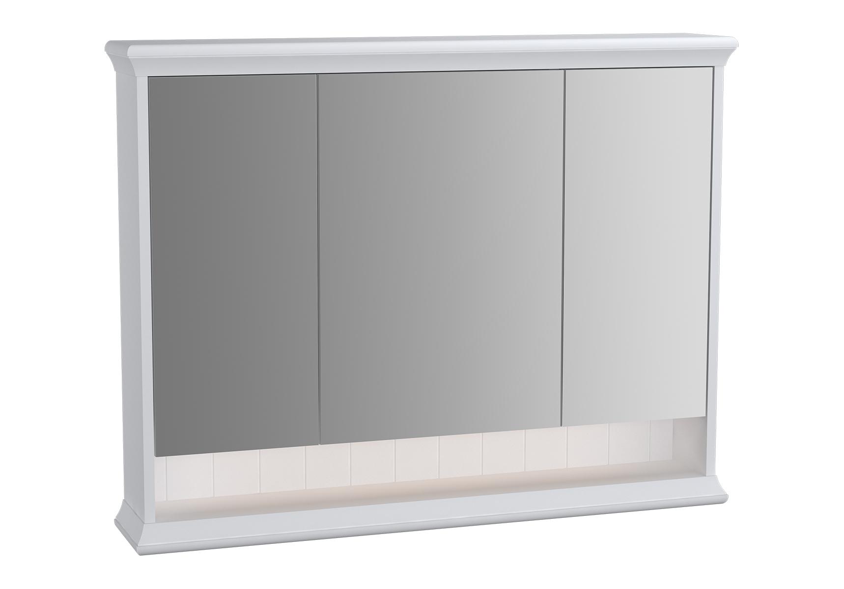 Valarte armoire de toilette, 100 cm, blanc mat