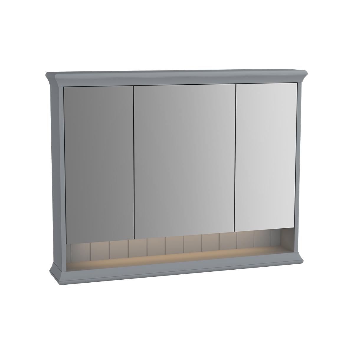 Valarte armoire de toilette, 100 cm, gris mat