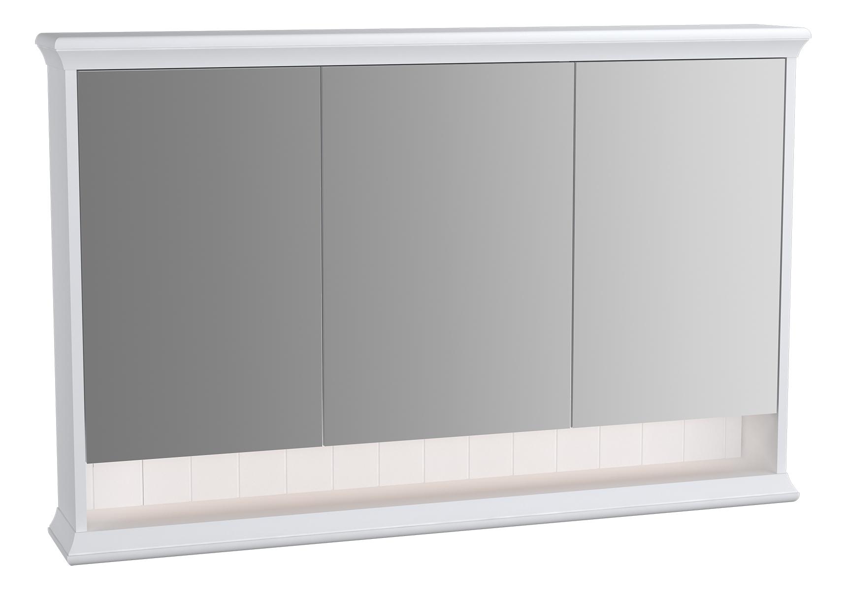 Valarte armoire de toilette, 120 cm, blanc mat