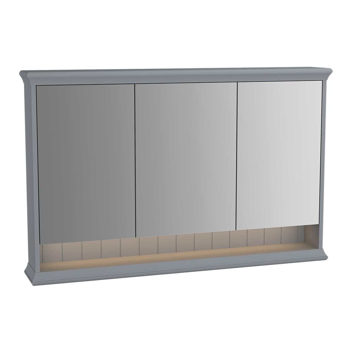 Valarte armoire de toilette, 120 cm, gris mat