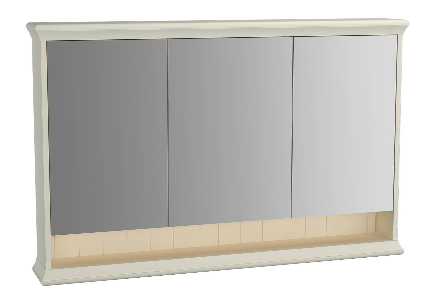 Valarte armoire de toilette, 120 cm, ivoire mat