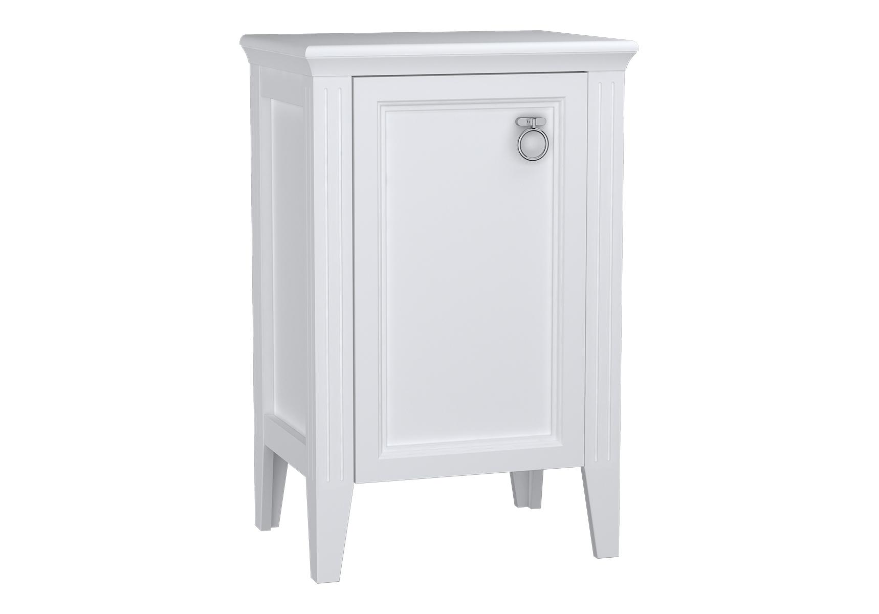 Valarte armoire mi-haute, 55 cm, porte à gauche, blanc mat