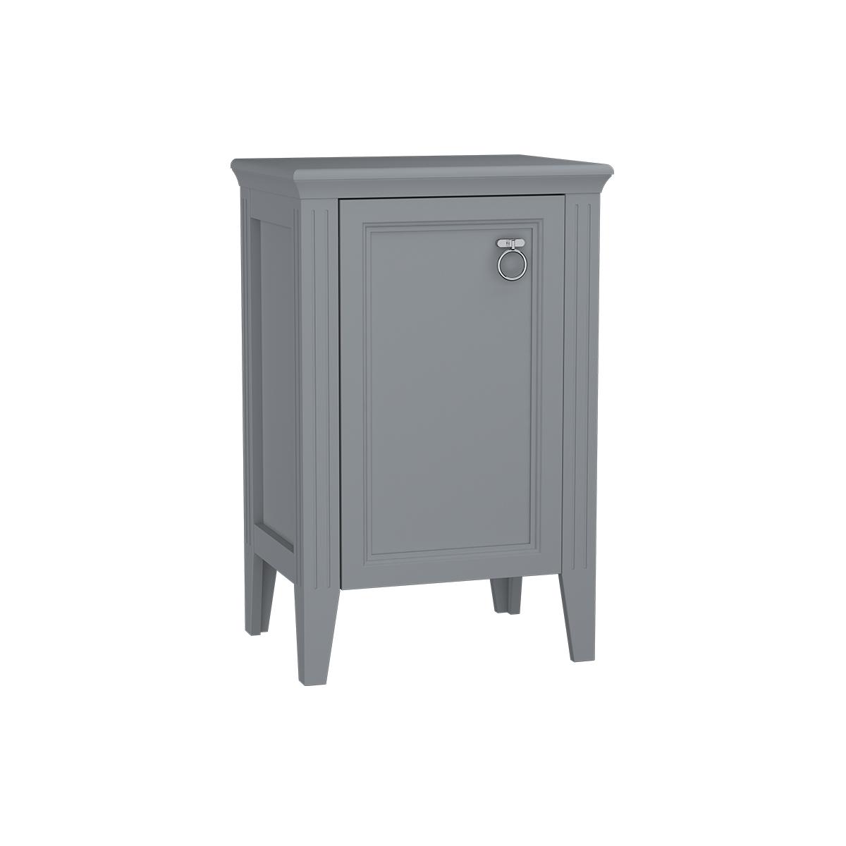 Valarte armoire mi-haute, 55 cm, porte à gauche, gris mat