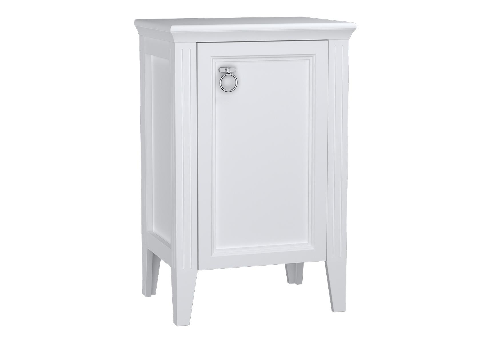 Valarte armoire mi-haute, 55 cm, porte à droite, blanc mat