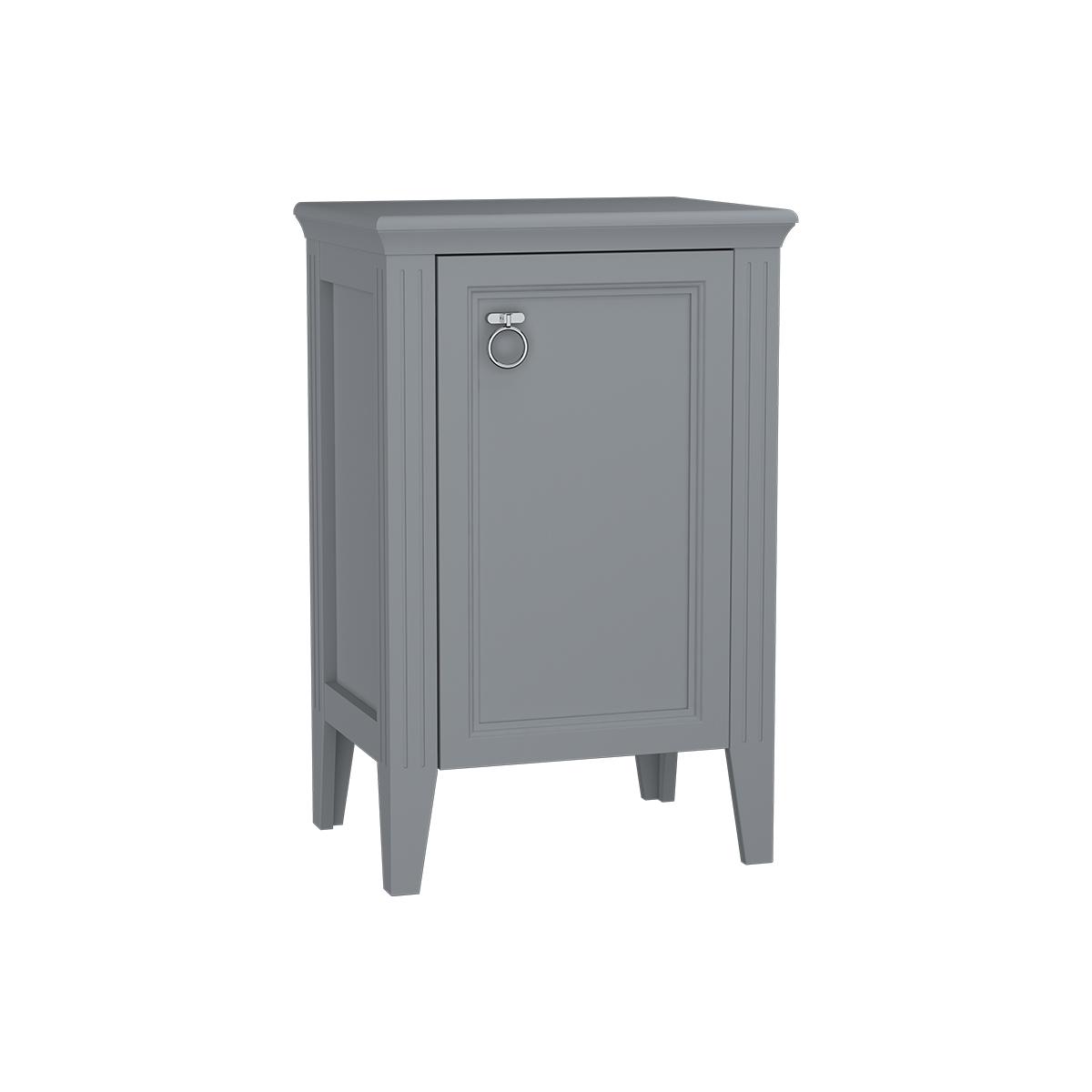Valarte armoire mi-haute, 55 cm, porte à droite, gris mat