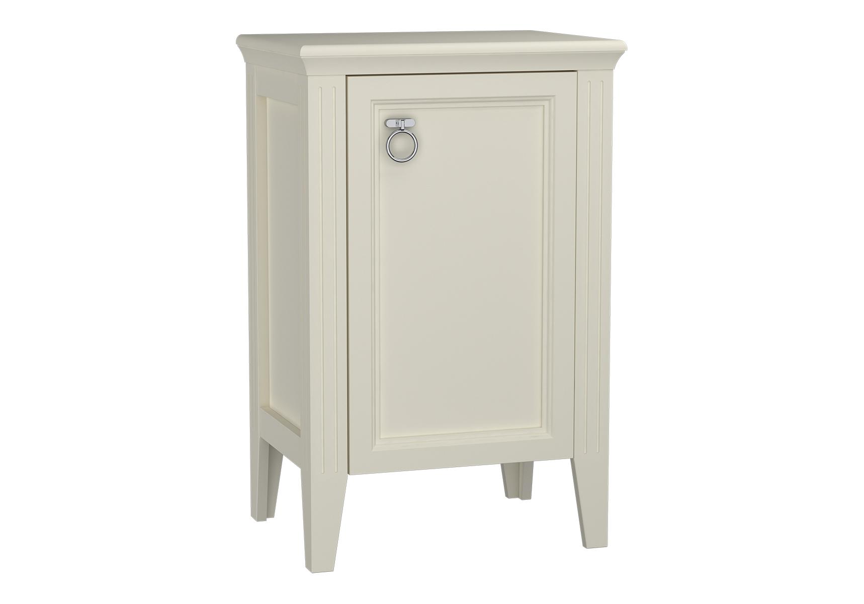 Valarte armoire mi-haute, 55 cm, porte à droite, ivoire mat