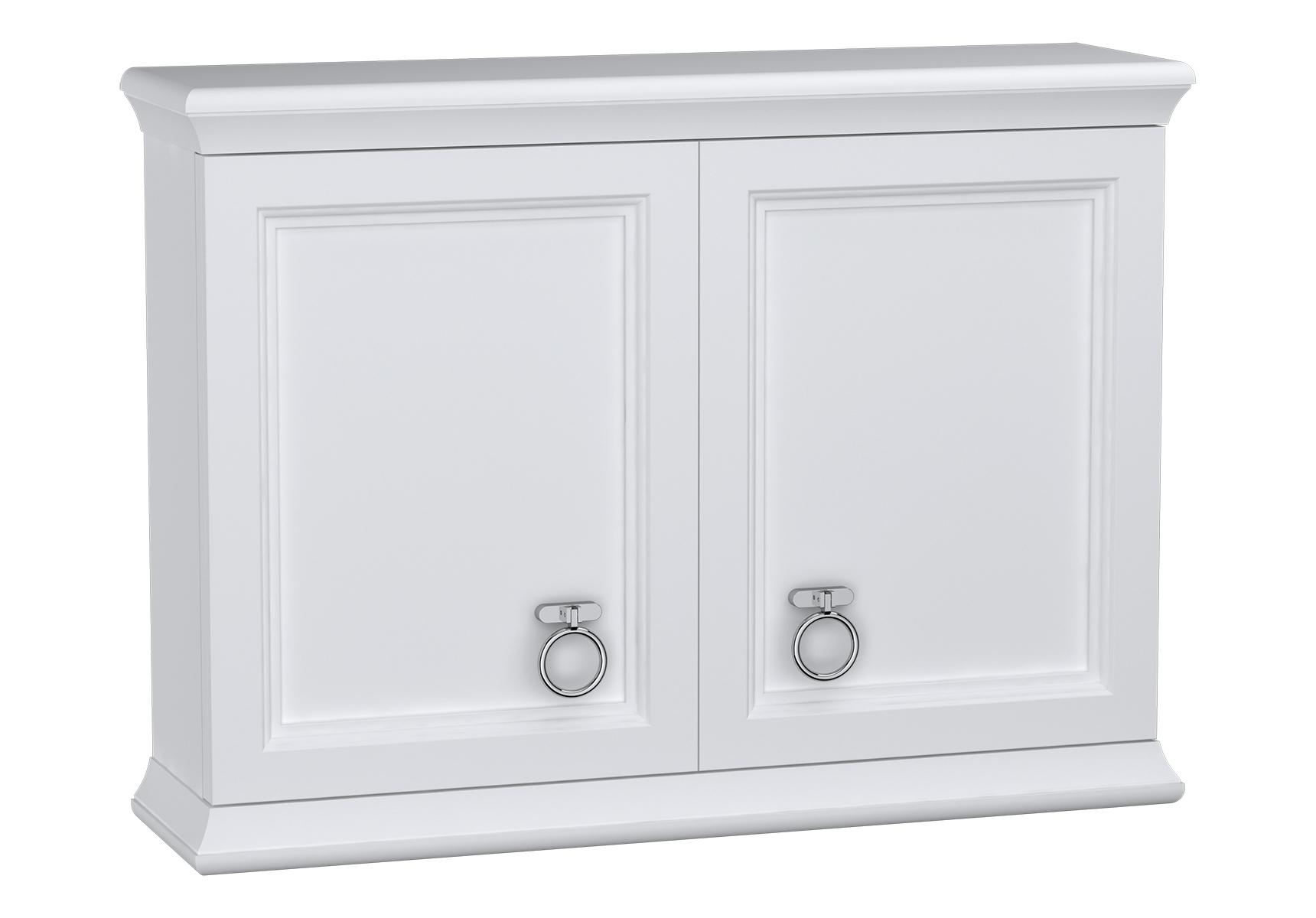 Valarte module supérieur, avec portes, 75 cm, blanc mat