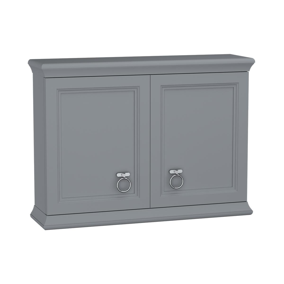 Valarte module supérieur, avec portes, 75 cm, gris mat